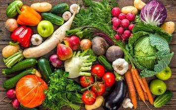 Organic local veggie selection