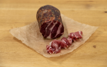Coppa from Emmental - sliced