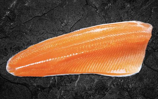Truite saumonée - filet avec peau