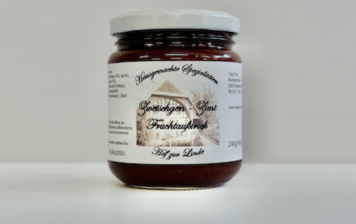 Homemade prune and cinnamon jam