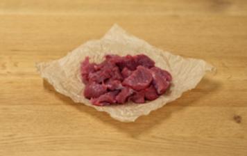 Freshly cut thin slices of...